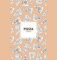 vertical flyer poster or menu template with pizza vector image vector image