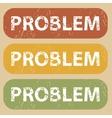 Vintage PROBLEM stamp set vector image