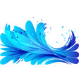 water background with a round frame vector image vector image