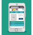 web design online media icon vector image