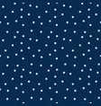 white stars on navy background seamless pattern vector image