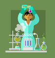 woman working in the chemistry laboratory vector image vector image