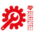 wrench and gear customization tools icon with vector image