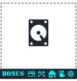 Hard drive icon flat vector image