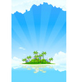 tropical business landscape vector image