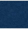 Blue Programming Line Tile Pattern vector image