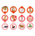 12 chinese zodiac animals ornamental frame lunar n vector image