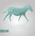 Abstract triangular horse vector image
