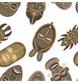 african masks pattern vector image