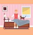 awaking in good mood young girl flat vector image