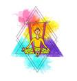 beautiful hand drawn aerial yoga vector image vector image