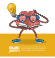 brain power poster vector image