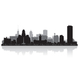 Buffalo USA city skyline silhouette vector image vector image