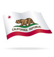 california state flag flying waving vector image vector image