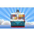 cargo container ship vector image vector image