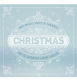 Christmas greeting card background vintage vector image vector image
