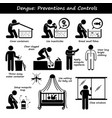 dengue fever preventions and controls aedes vector image