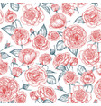 elegant seamless pattern with blooming provence vector image vector image