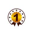 emblem best quality number 1 vector image