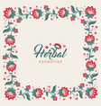 floral square frame jacobean style flowers border vector image vector image