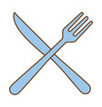 fork and knife cutlery icon vector image vector image