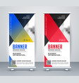 geometric rollup modern business banner design vector image