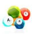 geometrical hexagon aqua elements vector image vector image
