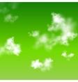 green sky background vector image