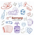 hand drawn doodle germany travel set vector image