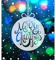Handdrawn calligraphic inscription Merry Christmas vector image