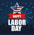 happy labor day national patriotic celebration vector image vector image