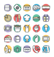 Hotel and Restaurant Cool Icons 5 vector image vector image