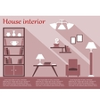 House interior infographic in flat style with vector image