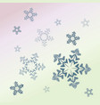 light snowflake background vector image vector image
