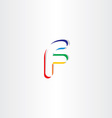 logo colorful letter f icon element vector image vector image
