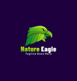 logo nature eagle gradient colorful style vector image