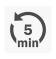 loop icon black vector image