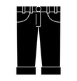 male jean casual clothes icon vector image