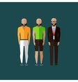 men fashion style in flat style vector image vector image