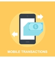 Mobile Transactions vector image vector image