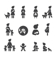 morther icon set vector image vector image