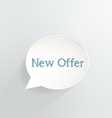 New Offer vector image vector image