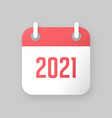 new year 2021 calendar icon vector image vector image
