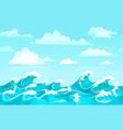 ocean waves backdrop sea water storm wave vector image vector image