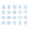 online shop simple color line icons set vector image vector image