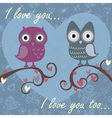 owls darkblue vector image vector image