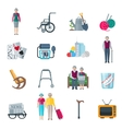 Pensioners Lifestyle Flat Icons vector image vector image