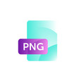 png format icon gradient flat style bright vector image vector image
