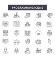 programming line icons signs set outline vector image vector image