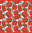 red poppy seamles pattern design - floral fashion vector image vector image